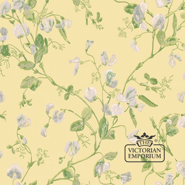 Sweet pea wallpaper in choice of 5 colours