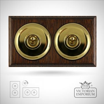 2 gang period light switch - plain in a choice of finishes