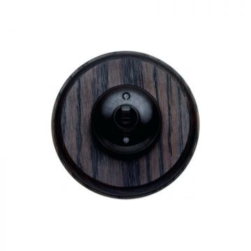 1 gang Bakelite light switch - circular, plain in brown or white