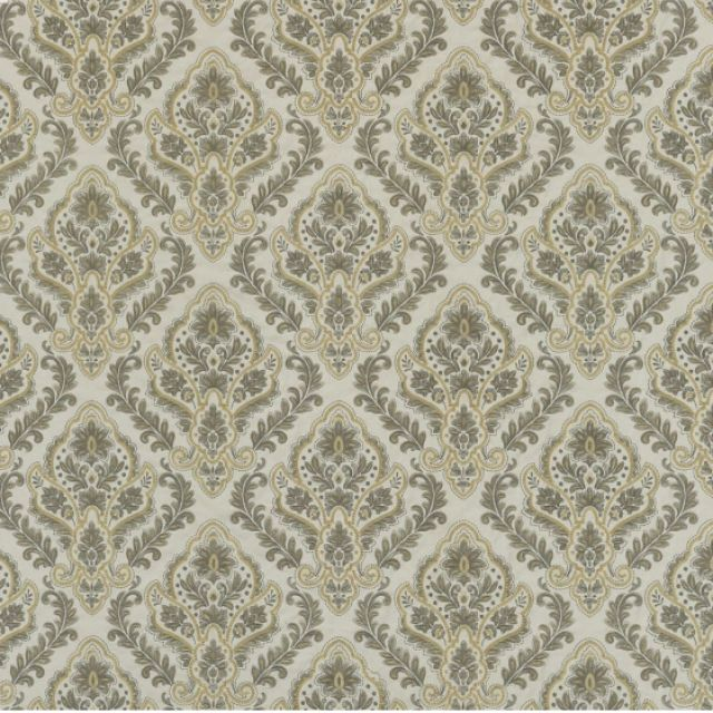 Alexandria fabric - silver or ivory