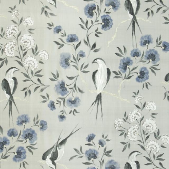 Jacaranda fabric - choice of 2 colourways - 100% Silk