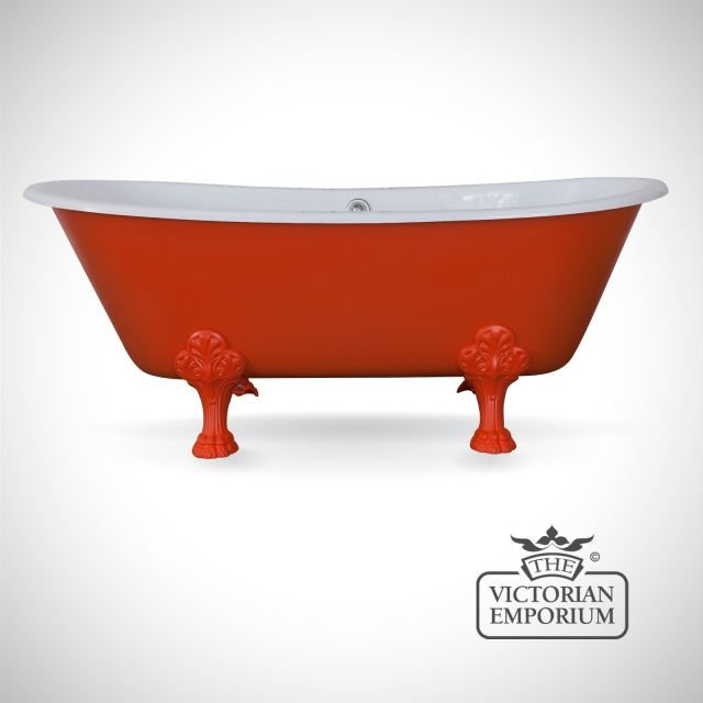 Vancouver cast iron bath - painted