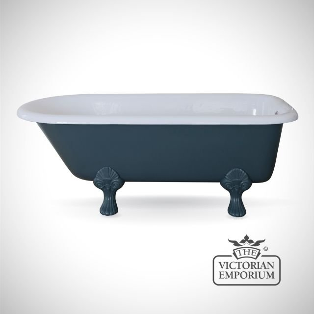 Cambridge cast iron bath - painted