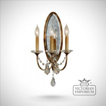 Valentine triple wall sconce