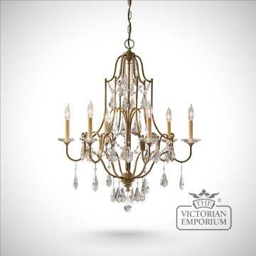 Ceiling chandeliers interior lights the victorian emporium valentine 6 light chandelier mozeypictures Image collections
