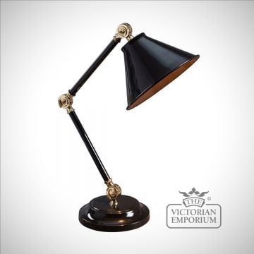 Provence small table lamp in Black/Polished Brass