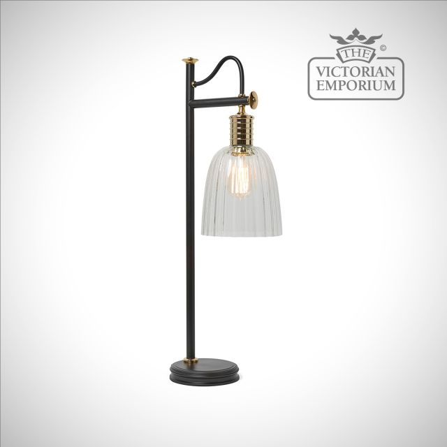 Douillet table lamp in Black/Polished Brass