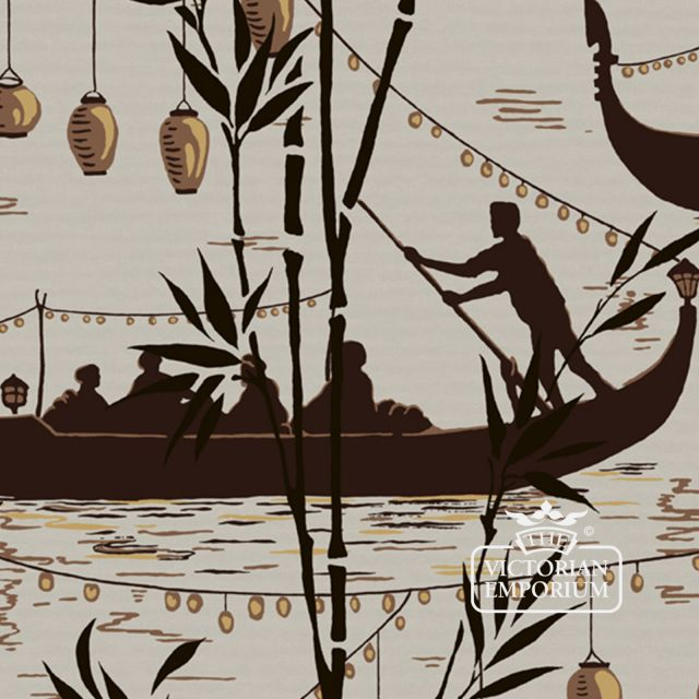 Gondola wallpaper in choice of 3 colours