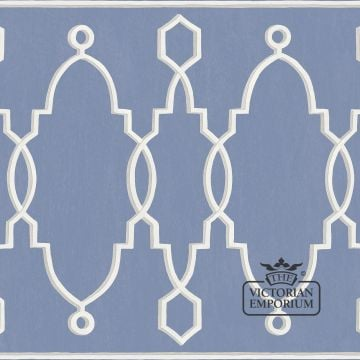 Parterre border wallpaper in choice of six colours