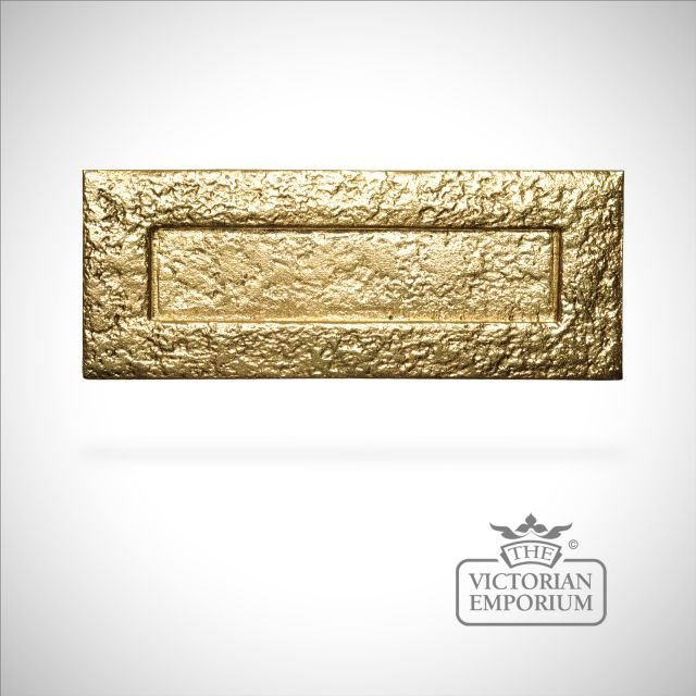 Cast brass plain letterbox