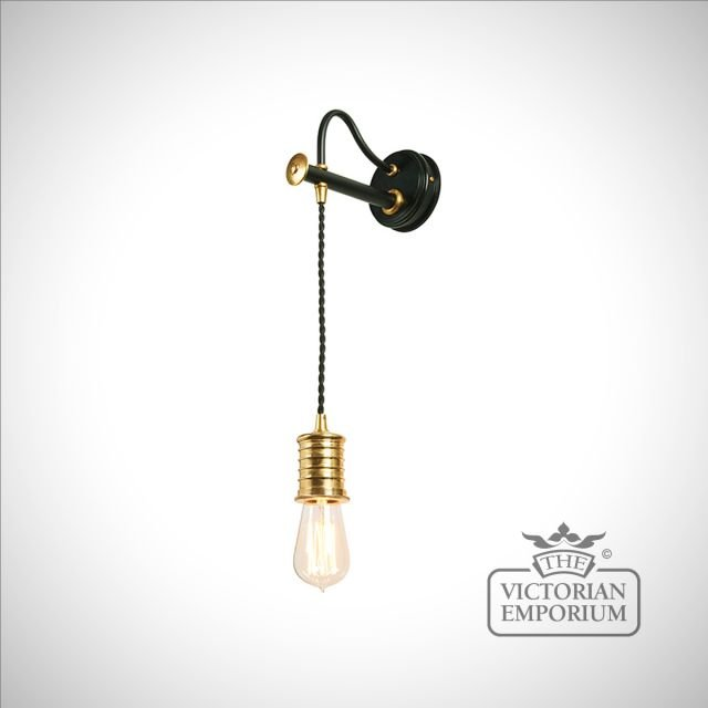 Douillet wall light in Black and Polished Brass