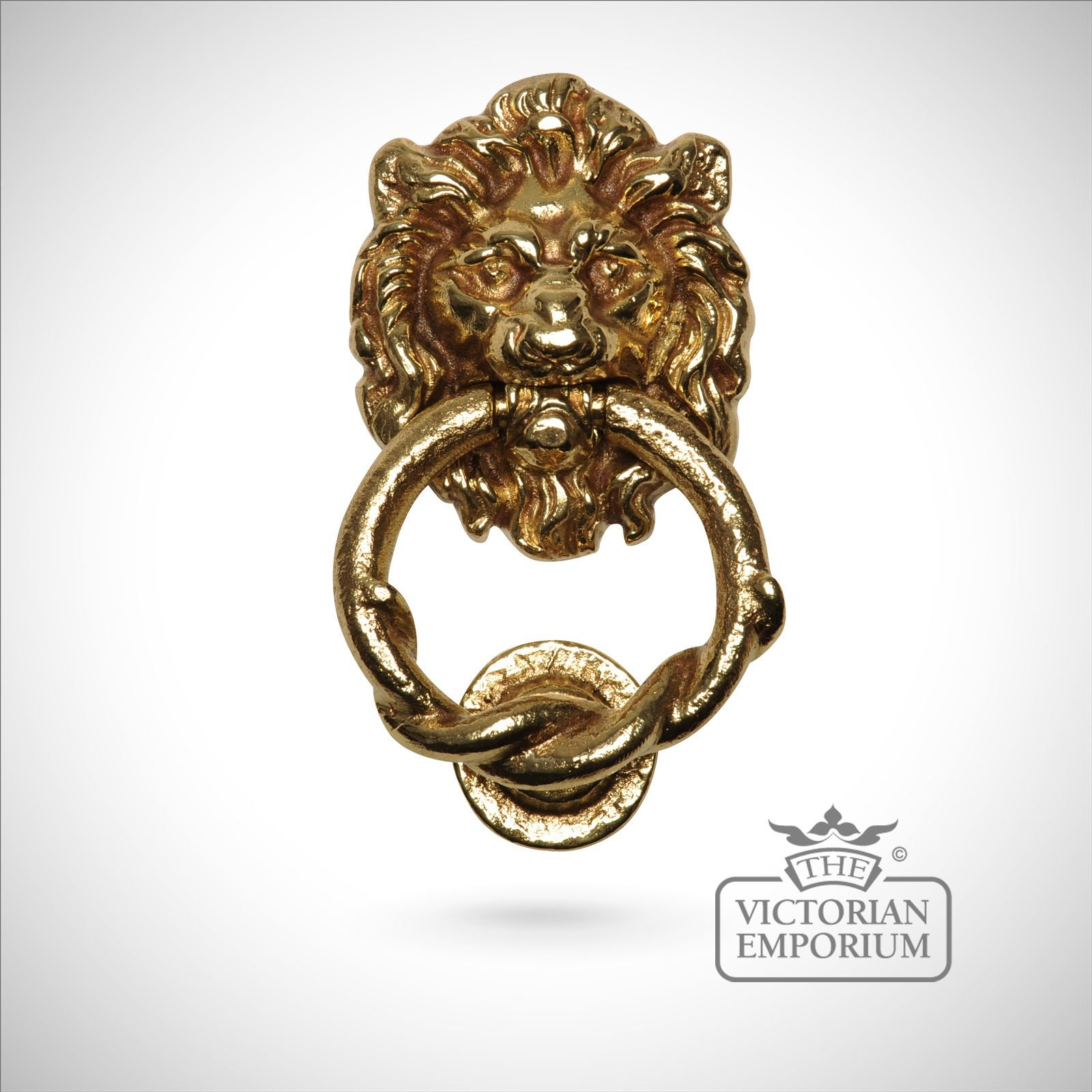 Lions head door knocker door knockers the victorian emporium - Lion head brass door knocker ...