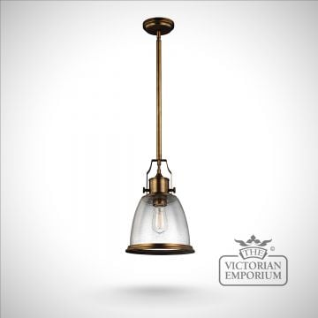 Hobsons medium ceiling pendant in Aged Brass