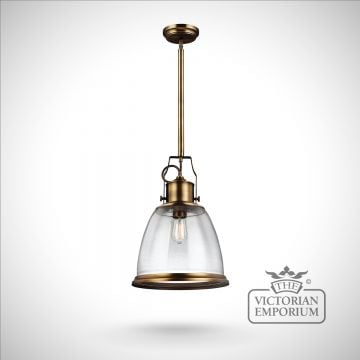 Hobsons large ceiling pendant in Aged Brass