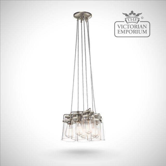 Brinkley 6 light pendant in brushed nickel