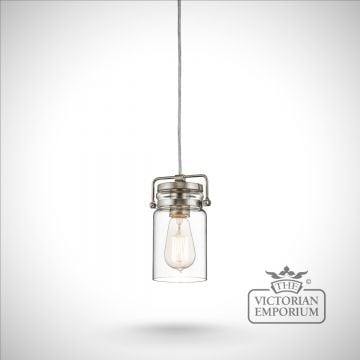 Brinkley mini pendant in brushed nickel
