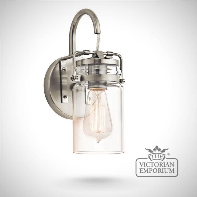 Brinkley wall light in brushed nickel
