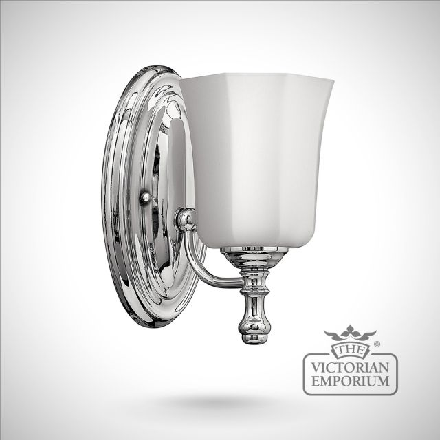 Shelley Bathroom single wall light in polished chrome