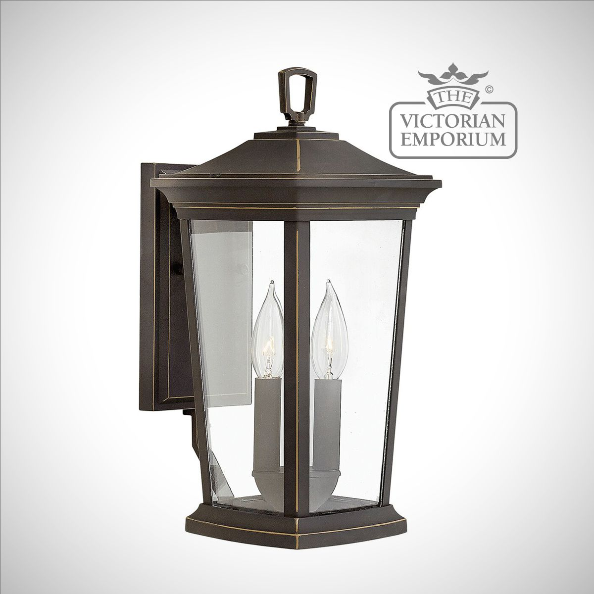 Traditional Silver Haematite Gate Post Lantern Or Driveway: Bromleys Medium Wall Lantern In Bronze