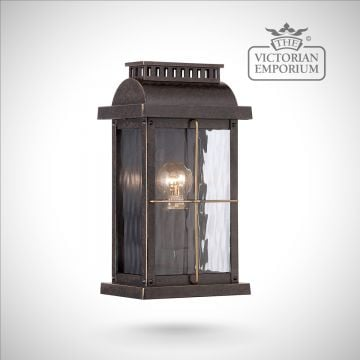 Cortlands small wall lantern in Imperial bronze