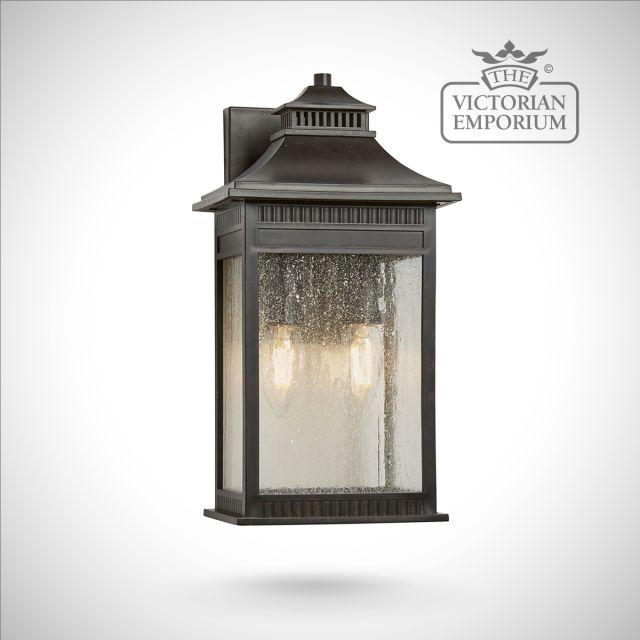 Livingstone medium wall lantern in bronze