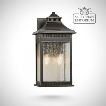 Livingstone medium wall lantern in bronze