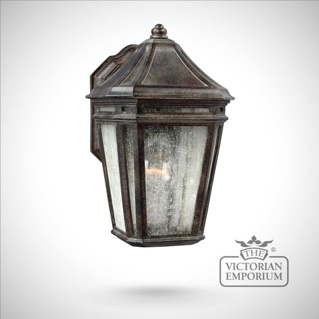 London large wall lantern in chestnut