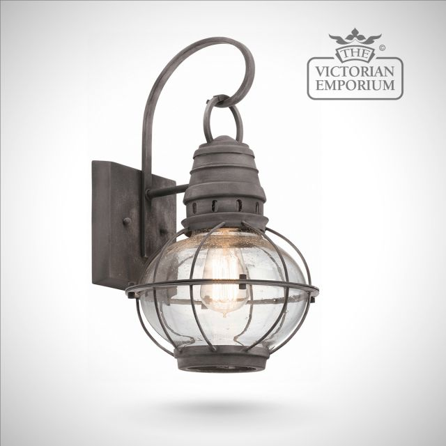 Bridgetown medium wall lantern in zinc