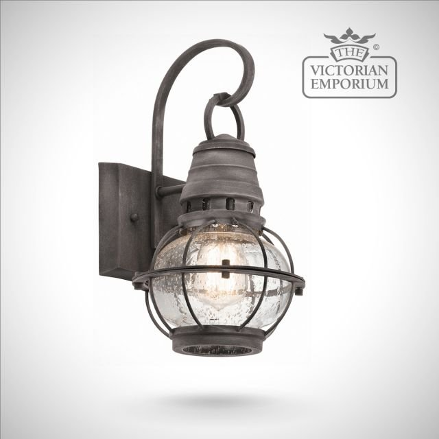 Bridgetown small wall lantern in zinc