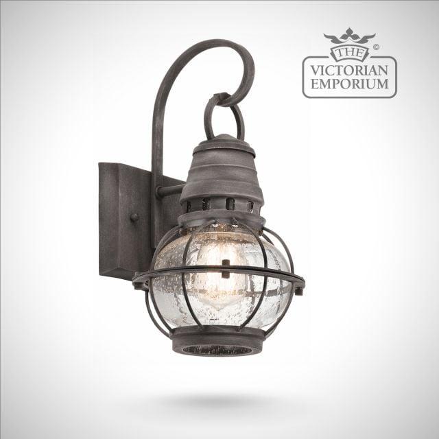 Bridgetown small wall lantern in zinc