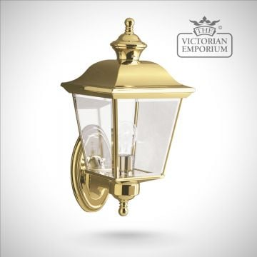 Bay medium wall lantern in polished brass