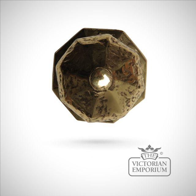 Cast brass door knob