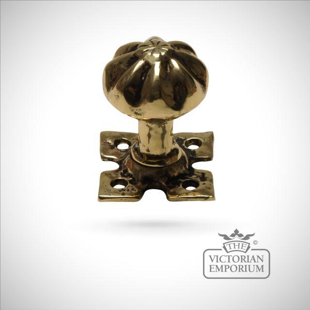 Cast brass mortice knob