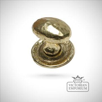 Cast brass cupboard knob