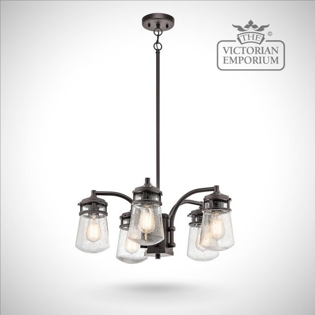 Lynton outdoor chandelier in bronze