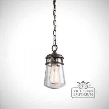 Lynton outdoor chain lantern in bronze