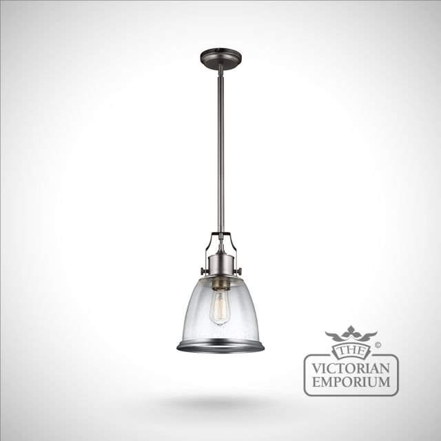 Hobsons medium ceiling pendant in Satin Nickel