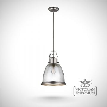 Hobsons large ceiling pendant in Satin Nickel