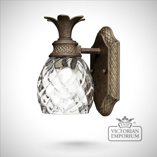 Pineapple Bathroom single wall light in pearl bronze