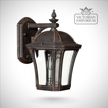 Waybash small wall lantern in Mocha