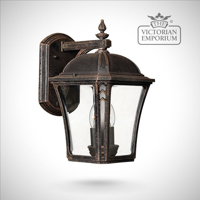 Waybash medium wall lantern in Mocha