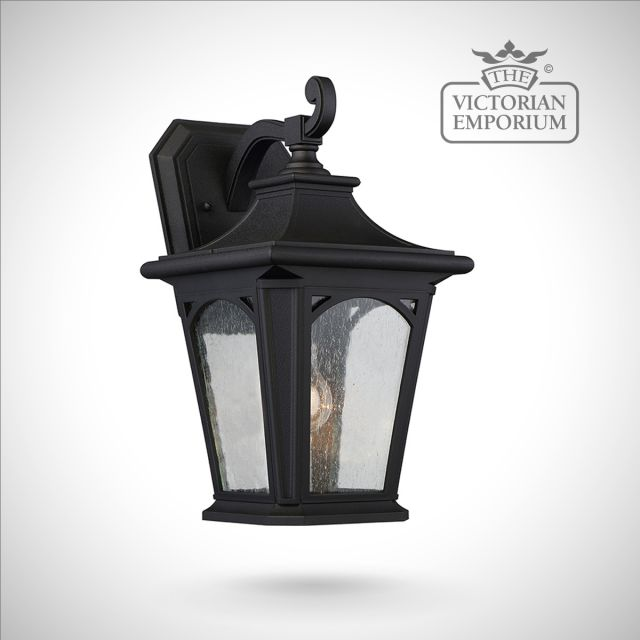 Bedfords medium wall lantern in Black