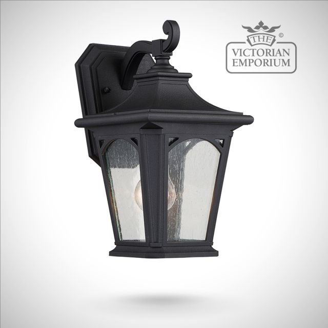 Bedfords small wall lantern in Black