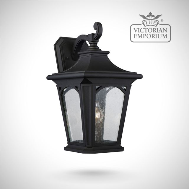 Bedfords large wall lantern in Black