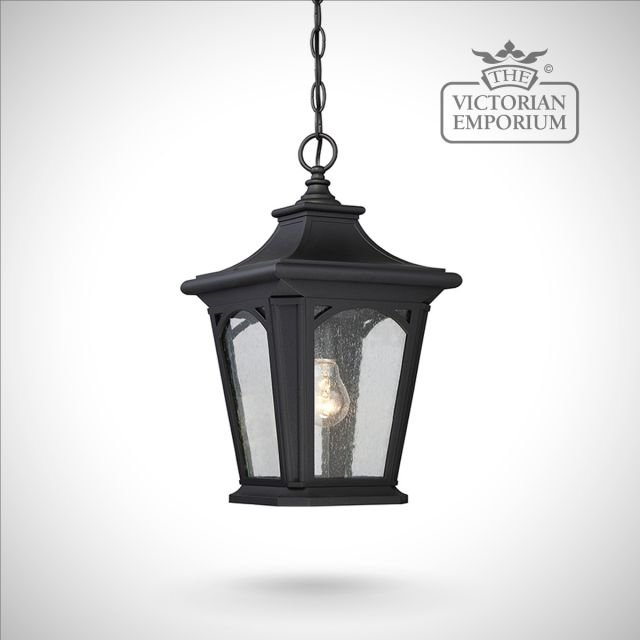 Bedfords small chain lantern in Black
