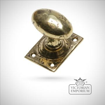 Cast brass mortice knob set