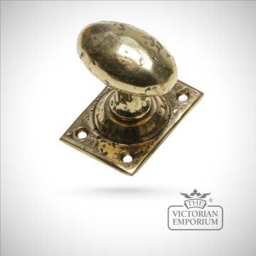 Cast brass mortice knob set