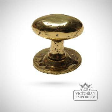 Cast brass rim or mortice knob