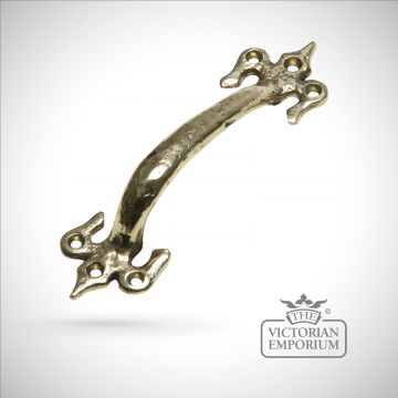 Decorative cast brass pull handle