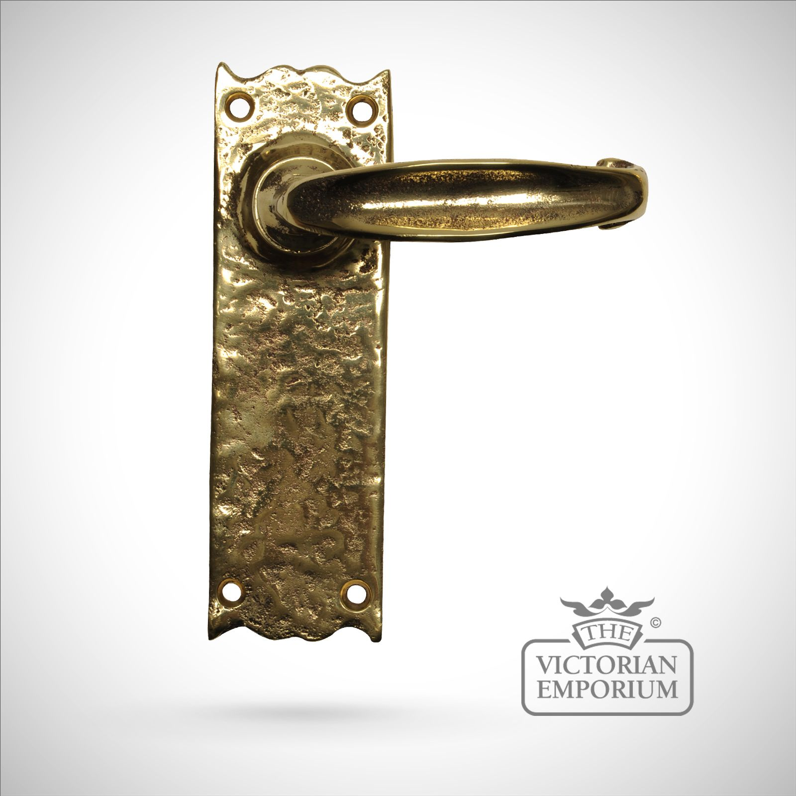Cast Brass Handle Sold As A Pair Lock Or Latch